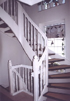 Weiße Holztreppe treppenbau rainer tamme